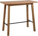 BARTISCH in Holz, Metall 117/58/105 cm   - Eichefarben/Schwarz, Design, Holz/Metall (117/58/105cm) - Carryhome