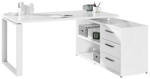 ECKSCHREIBTISCH Weiß - Anthrazit/Weiß, Design, Metall (170/75/140cm) - Hom`in