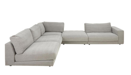 WOHNLANDSCHAFT Rücken echt, Rückenkissen - Grau, Design, Textil (365/322cm) - Pure Home Lifestyle