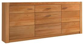 SIDEBOARD 163.0/80.0/42.0 cm  - Eichefarben/Silberfarben, KONVENTIONELL, Holz/Holzwerkstoff (163.0/80.0/42.0cm) - Carryhome