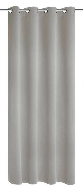 ZAVESA ZA OBROČKI MIA - siva, Konvencionalno, tekstil (140/245cm) - Venda