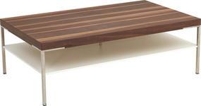 COUCHTISCH in Holz, Holzwerkstoff 125/75/42 cm   - Nussbaumfarben/Weiß, KONVENTIONELL, Holz/Holzwerkstoff (125/75/42cm) - Moderano