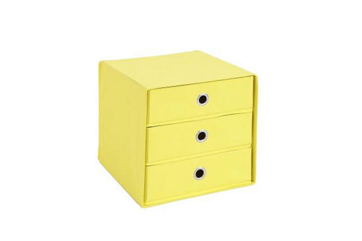 SKLOPIVA KUTIJA - žuta, Design, plastika (31,5/32,0/31,5cm) - Boxxx