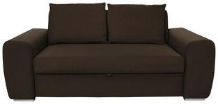 SCHLAFSOFA Dunkelbraun - Chromfarben/Dunkelbraun, Design, Holz/Textil (199/92/97cm) - Hom`in