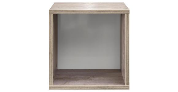 HÄNGEELEMENT in Weiß, Eichefarben   - Eichefarben/Weiß, KONVENTIONELL, Holzwerkstoff (30/30/21cm) - Xora