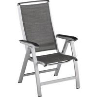 GARTENKLAPPSTUHL - Silberfarben/Graphitfarben, Design, Textil/Metall (69/63/113cm) - Kettler HKS