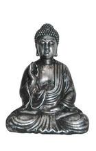 BUDDHA - barvy stříbra, Lifestyle, umělá hmota (10/14/5cm) - AMBIA HOME