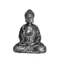 BUDDHA - Silberfarben, LIFESTYLE, Kunststoff (10/14/5cm) - Ambia Home