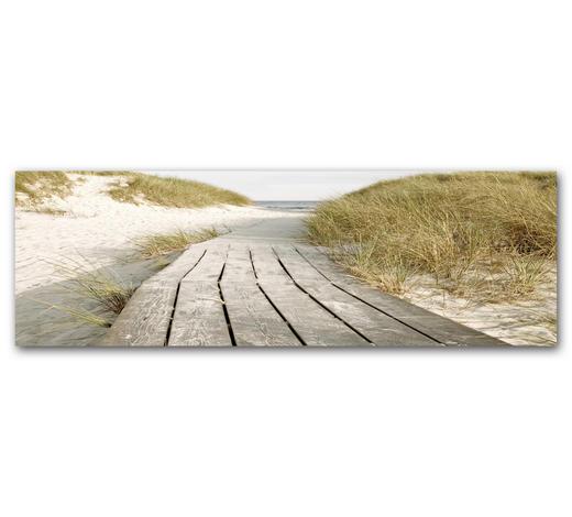 """Strand & Meer KEILRAHMENBILD """"Strandweg""""  - Design, Kunststoff (60/180cm) - Wiedemann"""
