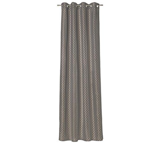ÖSENSCHAL  blickdicht  140/250 cm   - Braun/Grau, Design, Textil (140/250cm) - Joop!