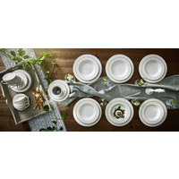 KOMBISERVICE 30-teilig - Beige/Weiß, Basics, Keramik - Ritzenhoff Breker