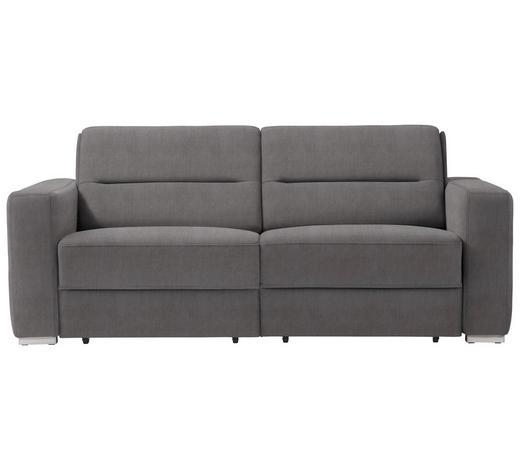 SCHLAFSOFA in Textil Grau - Grau, KONVENTIONELL, Textil/Metall (202/86/92cm) - Sedda