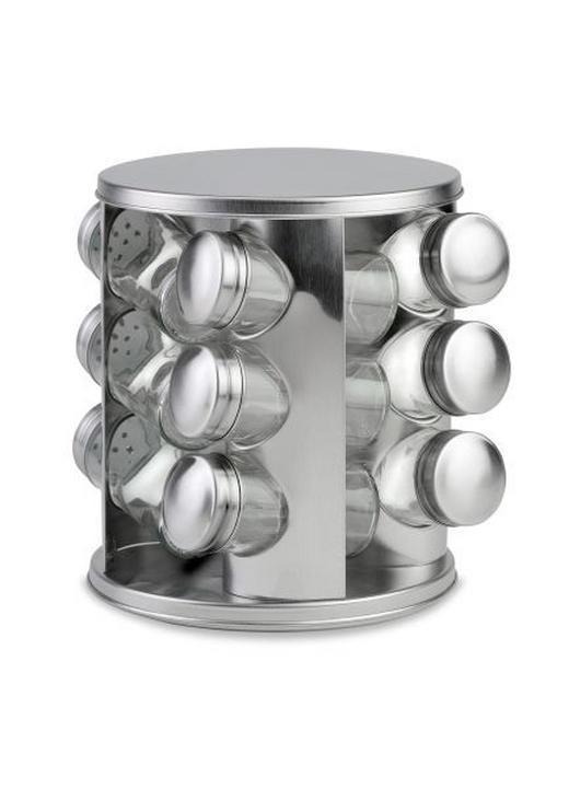 GEWÜRZKARUSSELL - Edelstahlfarben, Design, Glas/Metall (16,5/19cm) - Justinus
