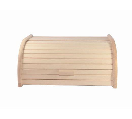 Brotkasten 40/28/18 cm  - Buchefarben/Naturfarben, Basics, Holz/Kunststoff (40/28/18cm) - Homeware