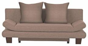 SCHLAFSOFA Hellbraun - Hellbraun/Braun, KONVENTIONELL, Holz/Textil (194/73/91cm) - Venda