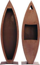 Kaminofen-2er Set - Rostfarben, Design, Metall (40/140/25cm)