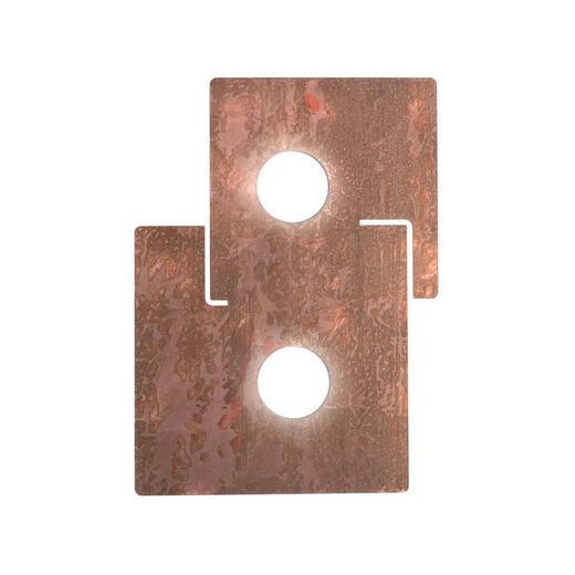 LED-DECKENLEUCHTE - Kupferfarben, KONVENTIONELL, Metall (32/44cm)