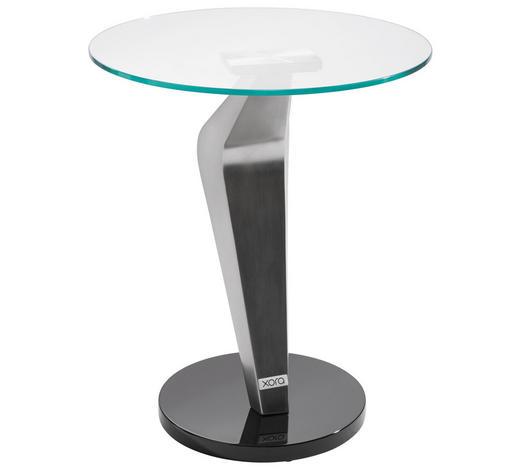 BEISTELLTISCH in Schwarz, Silberfarben - Silberfarben/Schwarz, Design, Glas/Holzwerkstoff (45,7/54,6cm) - Xora