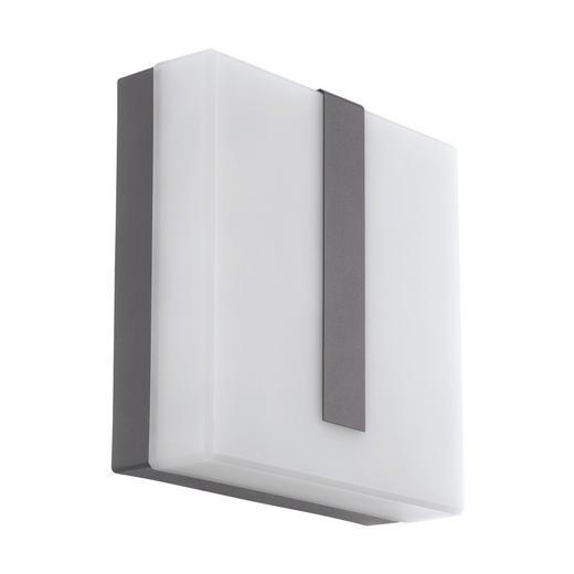 LED-AUßENLEUCHTE - Anthrazit, Design, Kunststoff/Metall (21,5cm)