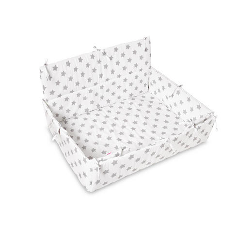 LAUFGITTEREINLAGE - Weiß/Grau, Basics, Textil (100/75cm) - My Baby Lou