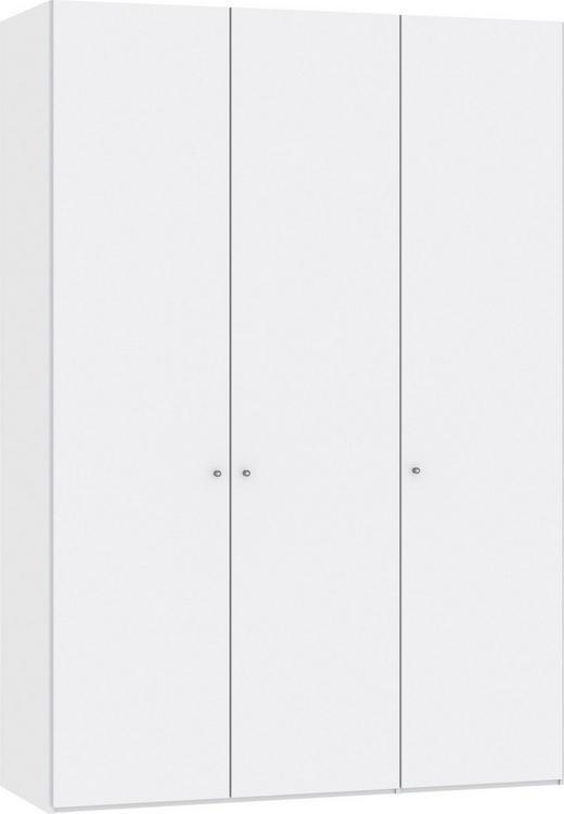 DREHTÜRENSCHRANK 3-türig Weiß - Silberfarben/Weiß, Design, Glas/Holzwerkstoff (152,2/220/37,5cm) - Jutzler