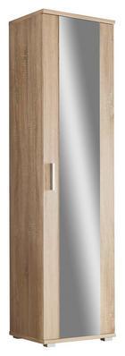 GARDEROBENSCHRANK Sonoma Eiche - Silberfarben/Sonoma Eiche, Design, Holz/Kunststoff (55/198/35cm) - Boxxx