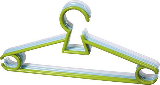 KINDERKLEIDERBÜGEL Kunststoff Grün, Hellblau, Weiß - Weiß/Hellblau, Basics, Kunststoff (30/14,5/0,56cm) - My Baby Lou
