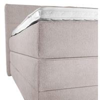 BOXSPRINGBETT 'OCEAN' Webstoff 180/200 cm  INKL. Topper  - Beige/Schwarz, Design, Holz/Textil (180/200cm) - Novel