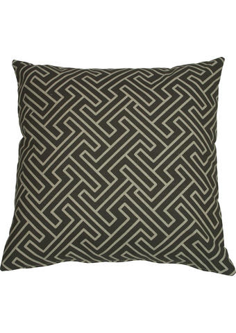 OKRASNA BLAZINA KLARA - sivo rjava/antracit, Design, tekstil (48/48cm)