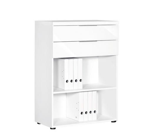 SCHUBLADENSET 80/33/37 cm Weiß  - Alufarben/Weiß, Design, Glas/Metall (80/33/37cm)