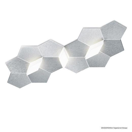 LED-DECKENLEUCHTE - Alufarben, Design, Metall (58,4/30/6,2cm) - Großmann