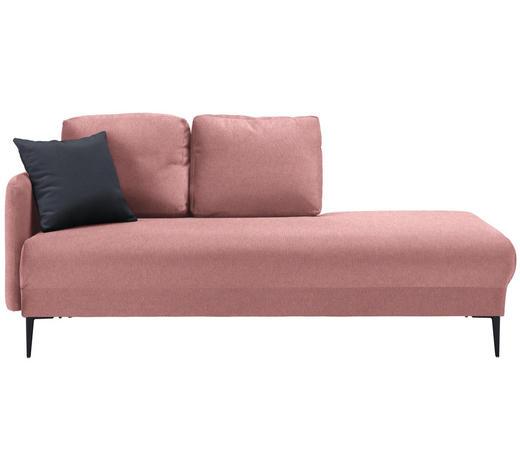 LIEGE in Textil Rosa - Anthrazit/Schwarz, MODERN, Textil (190/85/88cm) - Carryhome