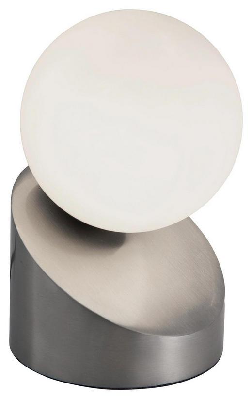 LED-TISCHLEUCHTE - Weiß/Nickelfarben, Design, Glas/Metall (16cm) - Boxxx
