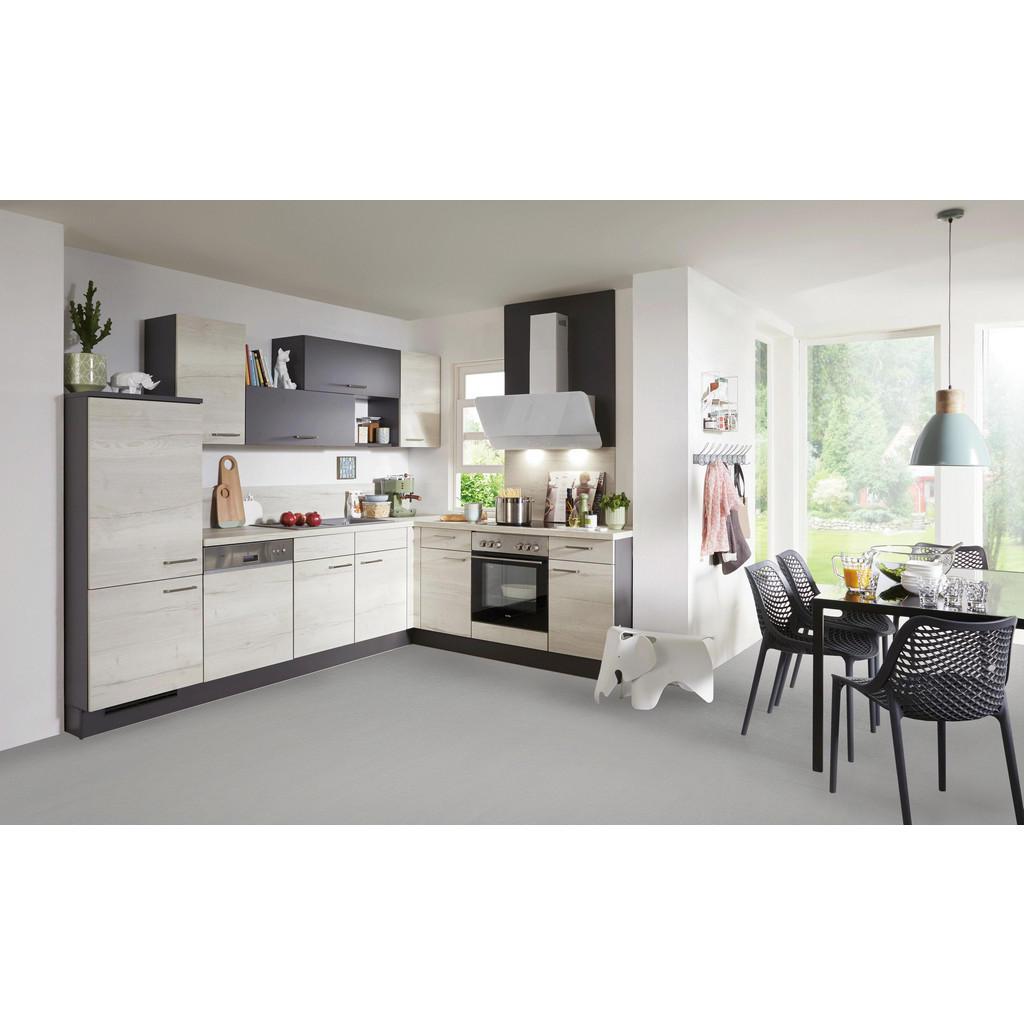 Rohová Kuchyň Celina - šedá barvy dubu