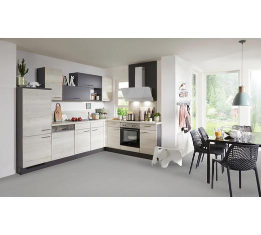 ROHOVÁ KUCHYŇ - šedá/barvy dubu, Design, kompozitní dřevo (215/285cm) - Celina