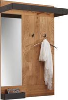 Garderobenpaneel - Eichefarben/Anthrazit, Design, Glas/Holz (90/134/35cm) - Valnatura