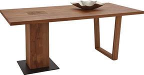 ESSTISCH in Holz, Metall 190/95/76 cm   - Eichefarben/Anthrazit, Design, Holz/Metall (190/95/76cm) - Valnatura