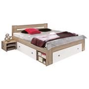 POSTELJNA GARNITURA   x  , leseni material bela, hrast - bela/hrast, Design, leseni material (140/200cm) - Boxxx
