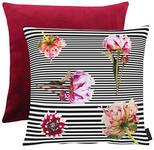 KISSENHÜLLE Multicolor, Schwarz, Weiß, Pink  - Pink/Multicolor, Trend, Textil (46x46cm) - Ambiente