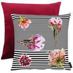 KISSENHÜLLE Multicolor, Rot, Schwarz, Weiß, Pink  - Pink/Rot, Trend, Textil (46x46cm) - Ambiente