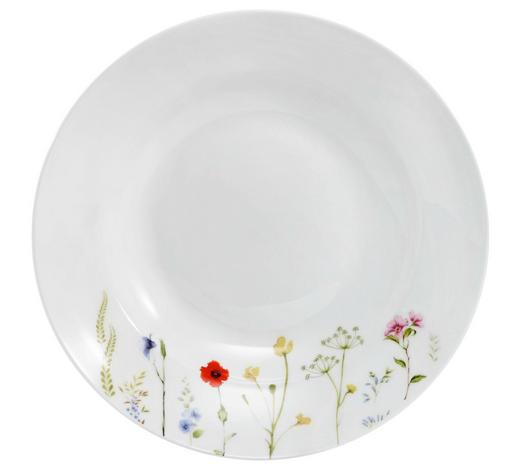TALÍŘ NA POLÉVKU, kostní porcelán (bone china) - bílá/vícebarevná, Basics, keramika (22,5cm) - Novel