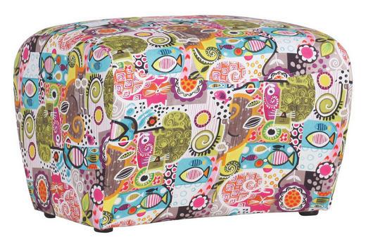 HOCKER in Textil Multicolor - Multicolor/Schwarz, Design, Kunststoff/Textil (58/40/52cm) - CARRYHOME