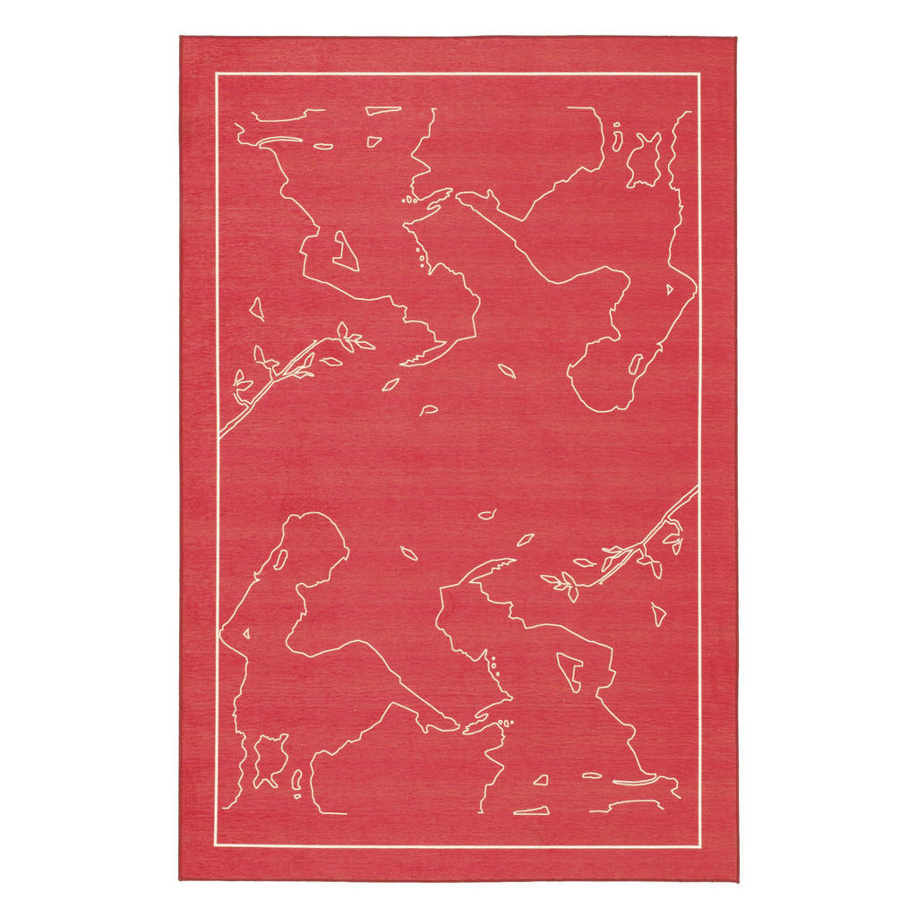 Kinderteppich Grimmliis , Rot , Textil , Prinzessin , rechteckig , 80 cm , Textiles Vertrauen - Oeko-Tex® , für Fußbodenheizung geeignet , Teppiche & Böden, Teppiche, Kinderteppiche