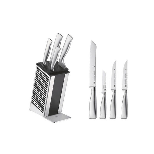MESSERBLOCK Stahl 5-teilig - Edelstahlfarben, Basics, Metall (36/19/15cm) - WMF