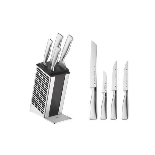 MESSERBLOCK 5-teilig Grand Gourmet - Edelstahlfarben, Design, Metall (36/19/15cm) - WMF