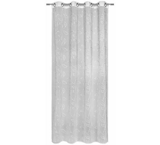 ÖSENVORHANG transparent - Weiß, KONVENTIONELL, Textil (135/245cm) - Esposa