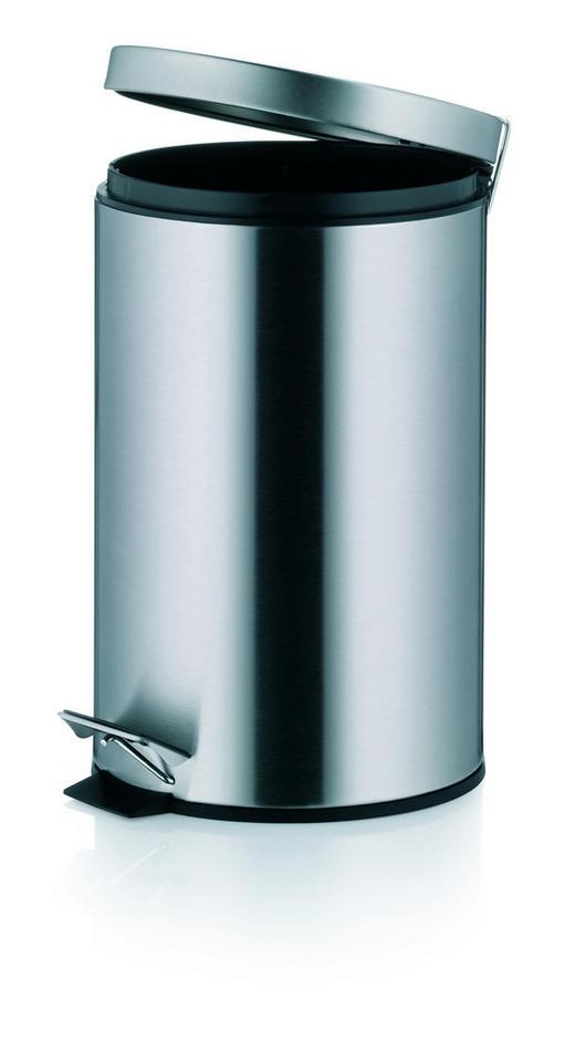 TRETEIMER 12 L - Silberfarben/Schwarz, Basics, Kunststoff/Metall (25/39cm)