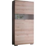 SCHUHSCHRANK 60/140/34 cm - Silberfarben/Buchefarben, Design, Holzwerkstoff/Metall (60/140/34cm) - Cassando