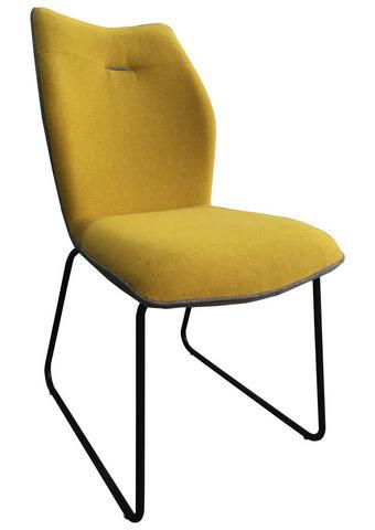 STOL, kovina, tekstil rumena, siva  - rumena/črna, Design, kovina/tekstil (47,5/91/63,5cm) - Novel