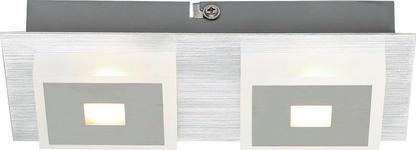 WANDLEUCHTE - Chromfarben, Design, Kunststoff/Metall (20/10/4cm) - Novel